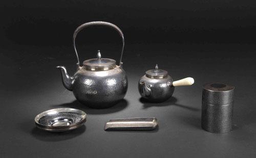 不锈钢带茶具
